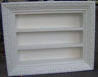 picture frame + utensil tray = perfume, nail polish, mini pic wall display.   FollowPics