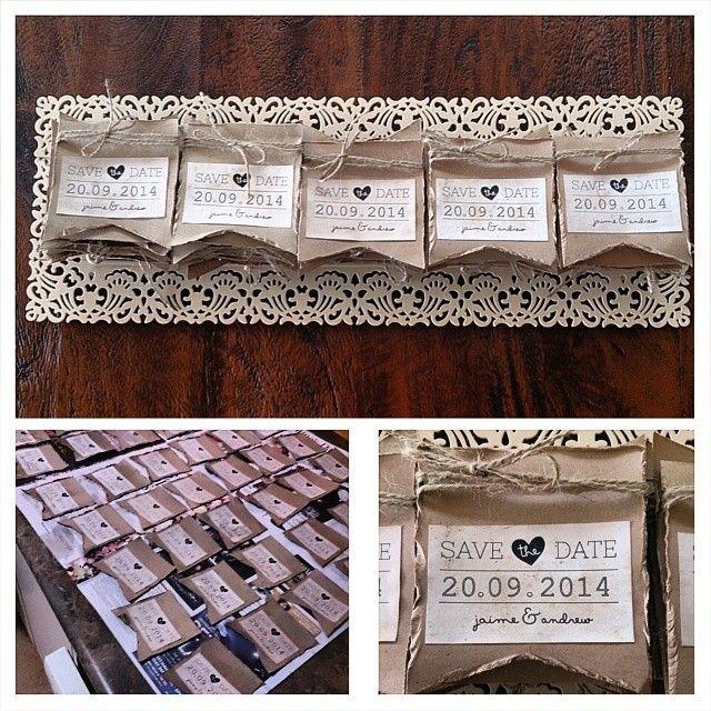 save the dates ...#wedding #vintage #aged #walnutink #savethedates