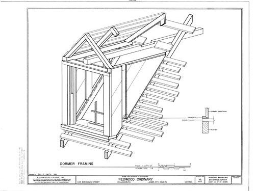 1000 images about 1790 1830 federal architecture on for Dormer window construction drawings