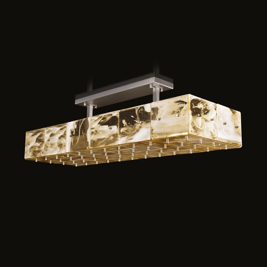 Tilight Suspension Lamp | The Twilight Suspension lamp by MULTIFORME is made of artistic glass, variegated glass plates and metal structure. The product can be customised on... view details on www.treniq.com