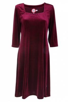 HELGA kjole bordeaux