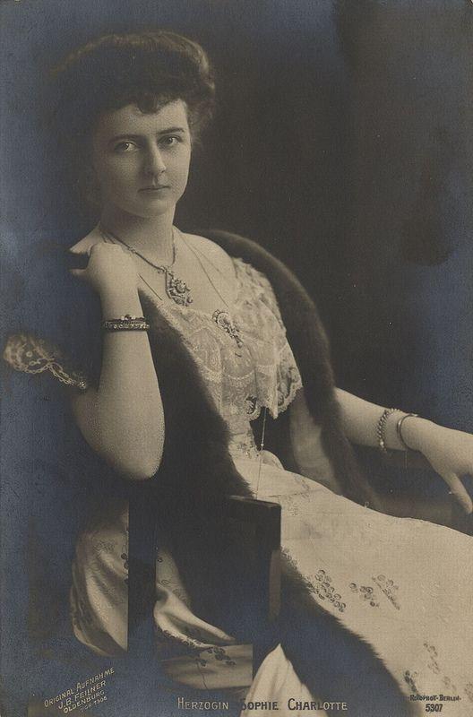 Prinzessin Sophie Charlotte von Oldenburg - Ehefrau des Prinzen Eitel Friedrich von Preussen