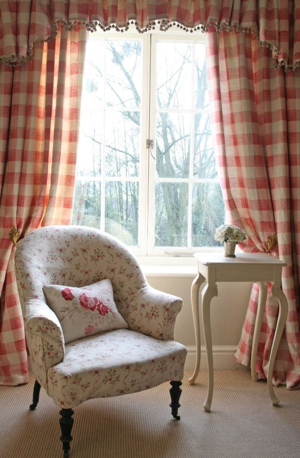 Pretty gingham curtains