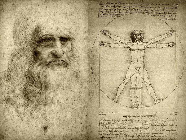 Hombre De Vitruvio Mandala Renacentista De Leonardo Da Vinci