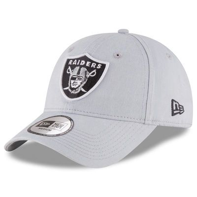 Oakland Raiders New Era Relaxed 49FORTY Fitted Hat - Gray