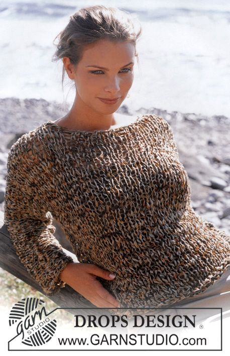 DROPS Pullover in Salsa. ~ DROPS Design...I am not a fan of these patterns but I post them as others may