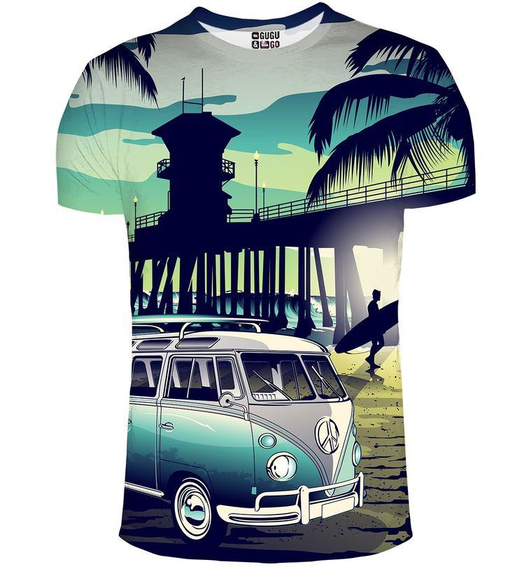 T-shirt ze wzorem California Life, Mr. GUGU & Miss GO