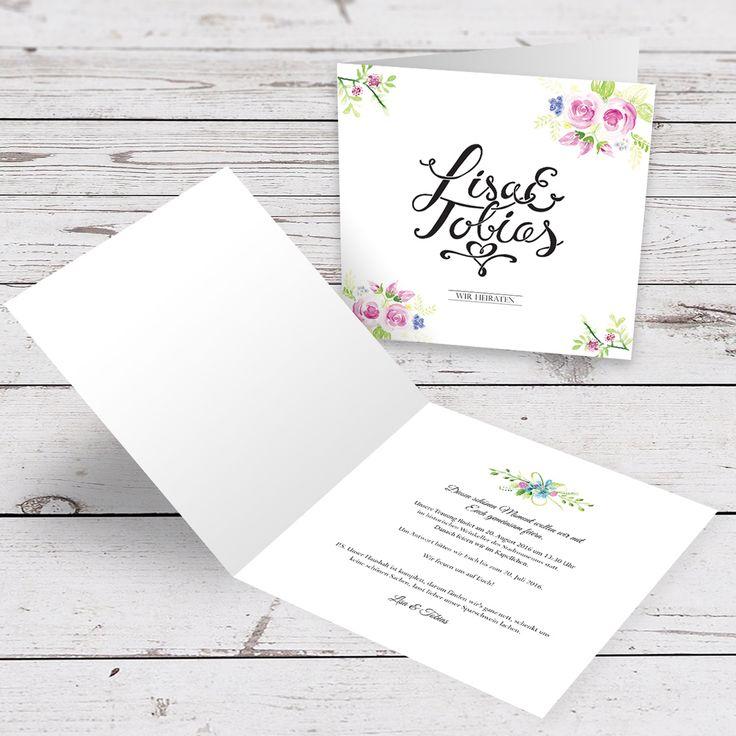 Hochzeitseinladung - Wedding invitation - Hand Lettering