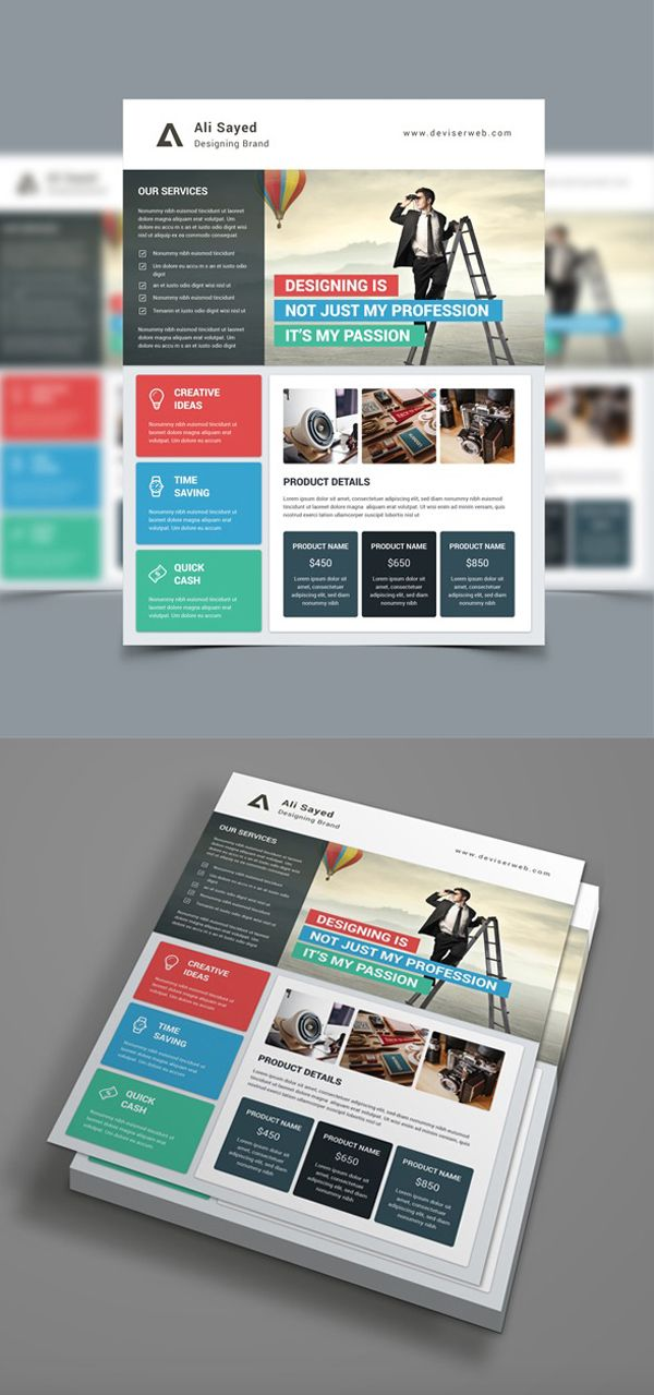 Material Style Business Flyer