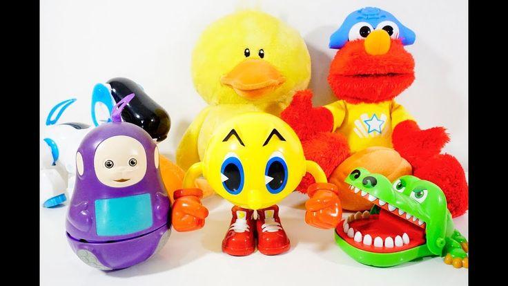 Teletubbies, Pac-Man, Crocodile, Robot Dog, Chicken, Elmo, Toys, Learn C...