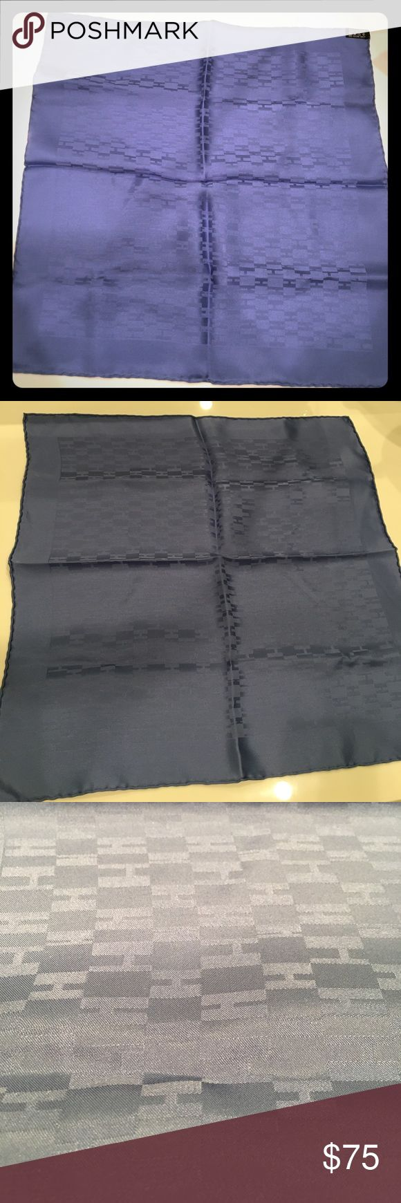 New Hermes Silk Pocket Square New without tag or box. Never been worn. Beautiful blueish gray color with Hermes H pattern. 100% silk, authentic. Must have piece! Perfect gift. Hermes Accessories Pocket Squares