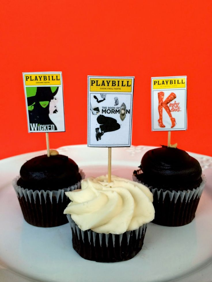 Broadway Party Playbill Cupcakes