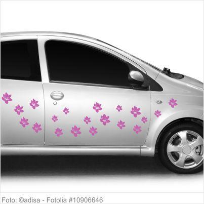 Autoaufkleber Blumen - 10er Set - Motiv 13