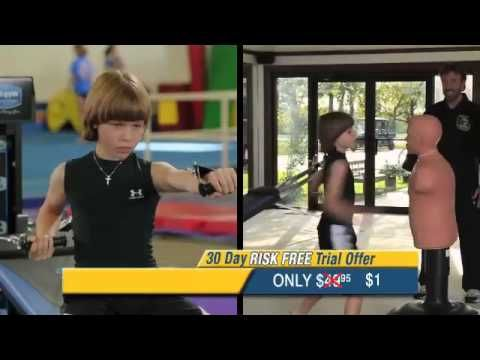 Total Gym Workout Chuck Norris and Son. I think Zach would like this!