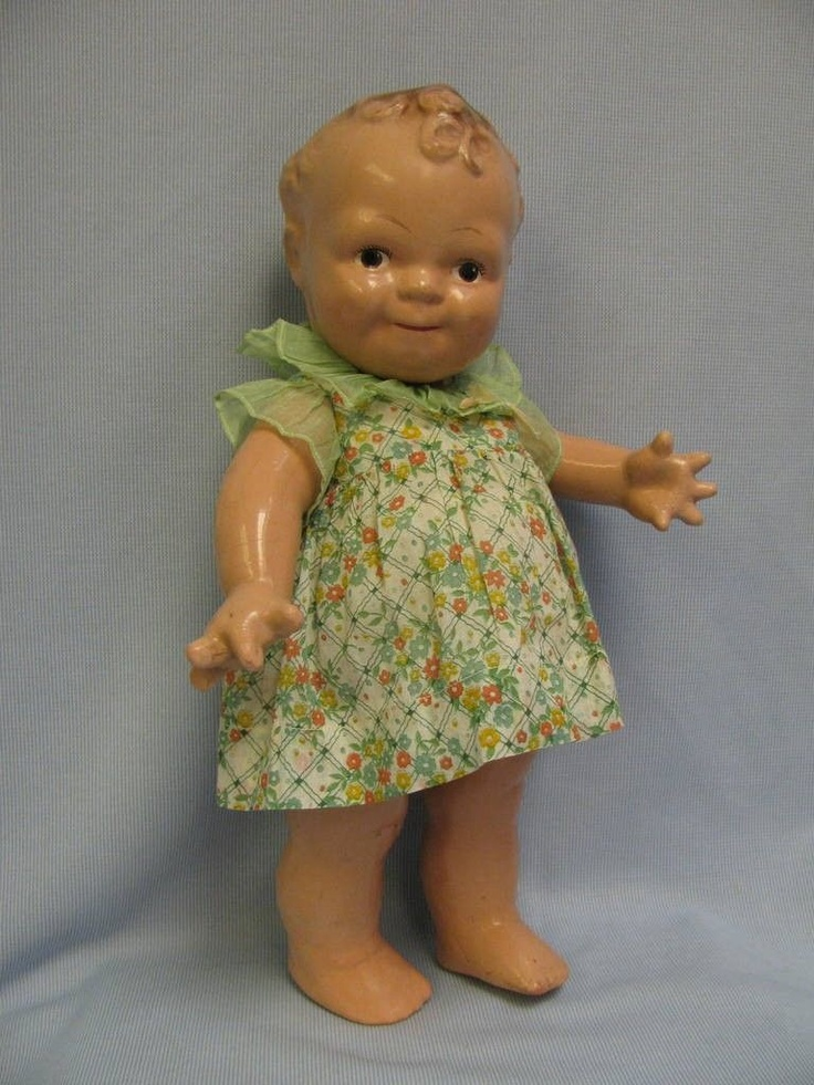 1925 Composition Scootles Rose O'Neill Kewpie Doll