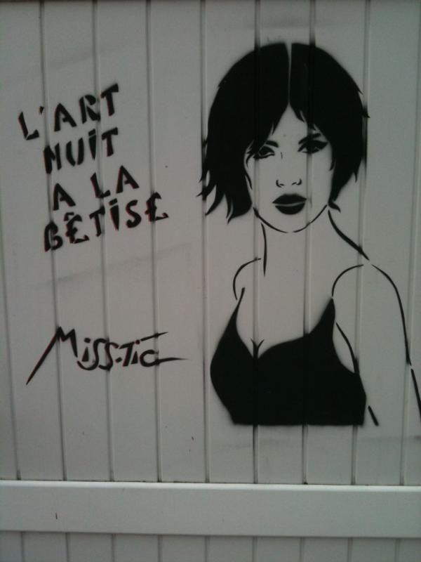 -Miss-Tic- 'l'art nuit à la bêtise'