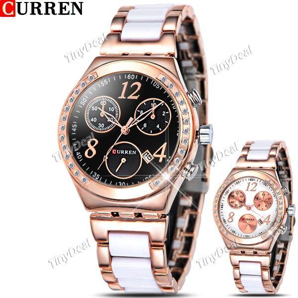 http://www.tinydeal.com/it/curren-stainless-steel-quartz-watch-w-false-sub-dial-f-women-p-110761.html  (CURREN) Stainless Steel Quartz Watch Analog Wristwatch Timepiece w/ Sub-dials