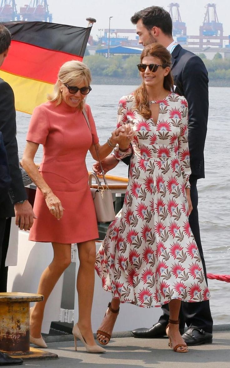 It's not just that Brigitte Trogneux Macron is turning out to be quite the fashion plate – we anticipate nothing less from a French First Lady - but that the former English teacher is already talking in her own language.