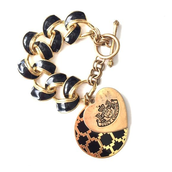 Juicy Couture charm chain bracelet Cute preppy bracelet. Signs of wear. Priced to sell, no offers please. Juicy Couture Jewelry Bracelets