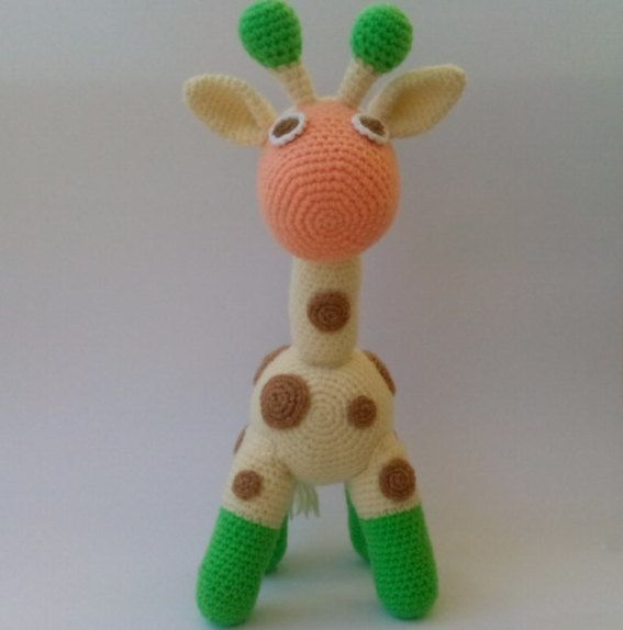Amigurumi Giraffe Crochet Giraffe Toy Giraffe by PinkOliveGifts