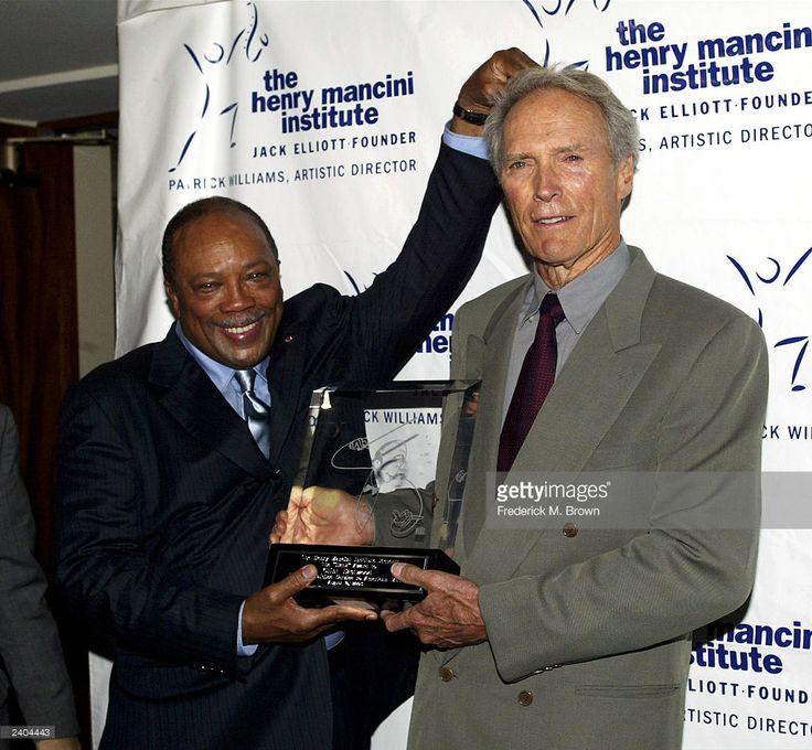 Quincy Jones and actor Clint Eastwood