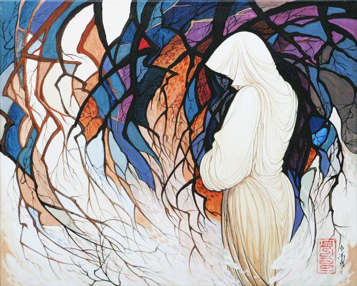 'FARAWAY' acrylic,canvas, 53x45,5 cm 2007