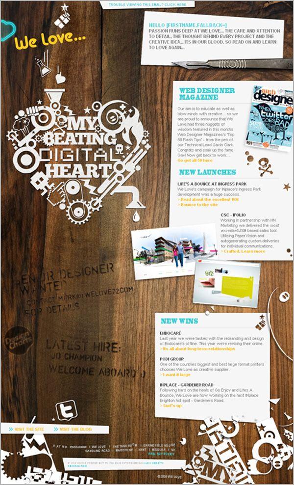 24 best customer communication inspiration images on for Newsletter design inspiration