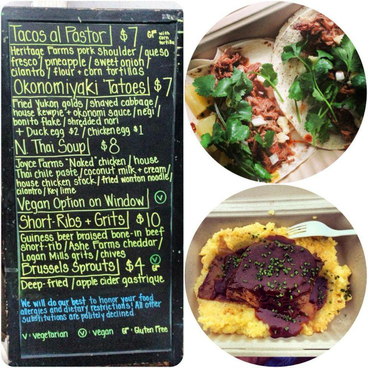 Menu Board By Our Friends Neue Southern Food Truck In