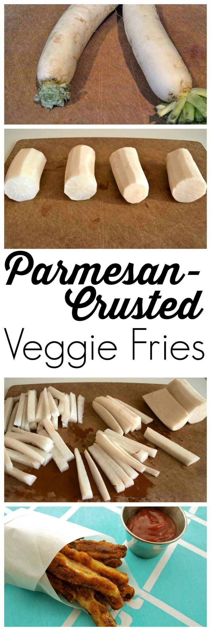 These parmesan-crusted Veggie Fries are PERFECT for the vegetable-hater in your life.  Who can say no to cheese-crusted vegetables?! This is an outstanding recipe that can be used with a variety of vegetables.