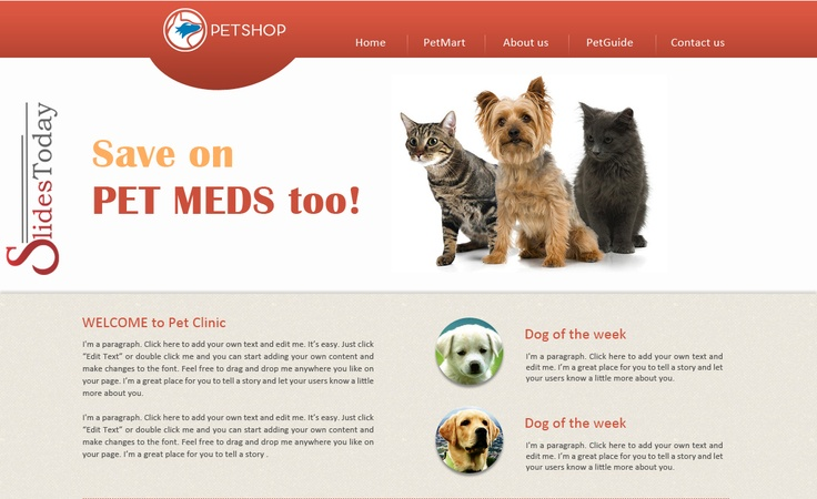 Pet Shop Web Template