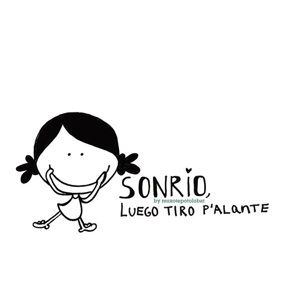 sonrío