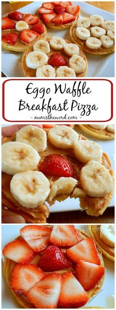 Need an easy, healthy, on the go breakfast? This Eggo Waffle Breakfast Pizza takes 5 minutes or less to whip up, has 4 ingredients  is a healthy, easy, car friendly breakfast! #FueledForSchool #ad