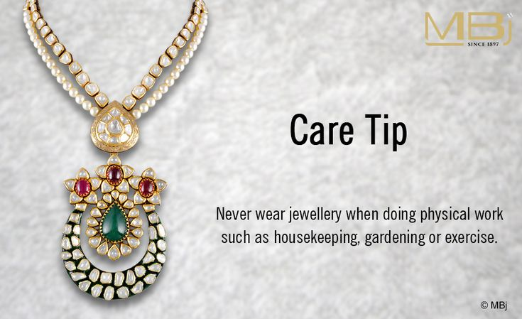 Jewellery care tip day #MBj #Jewellery #Care #Necklace #Luxury #Fashion #Polki #Emerald #Ruby