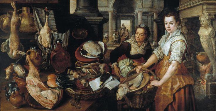 Jesús en casa de Marta y María. 1568. Joachim Beuckelaer Óleo sobre tabla. Medidas: 126 cm x 243 cm. Museo del Prado. Madrid Españ...
