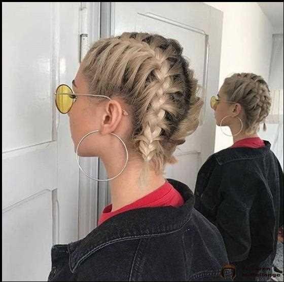 30 Beste French Braid Short Hair Ideas 2019 Flechtfrisuren Frisuren Kurz Franzosischer Zopf Kurze Haare