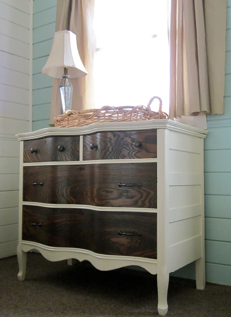 Refinished dresser o how i would love to drop a sink in this beauty and have in my bathroom as - Paint wooden dresserwonderful ideas ...