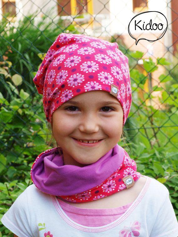 Organic cotton children hat Dottie Pink