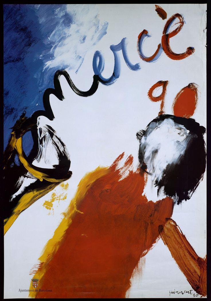 ANUNCIANT: Ajuntament de Barcelona. PEÇA: Cartell Festa de La Mercè AUTOR: Ginovart ANY: 1990