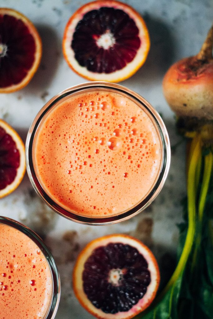 Sunny Citrus Beet Juice | Well and Full | #vegan #recipe