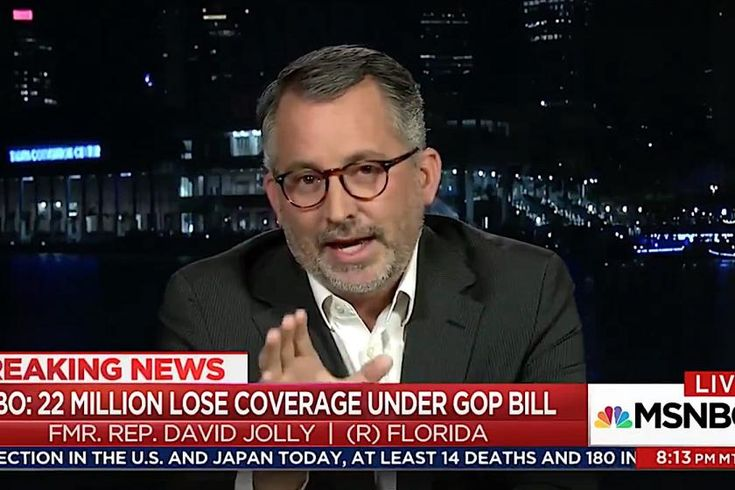 "David Jolly won a special House election in Florida in 2014 as a staunch critic of the Affordable Care Act, but then lost his seat to Rep. Charlie Crist (D-Fla.) in November. On Monday night, he told MSNBC's Lawrence O'Donnell that when he was unexpectedly unemployed in January, with a pre-existing condition, he realized that he was glad ObamaCare was the law of the land. ""While I ultimately chose a private-sector plan, I also knew in 2017, ObamaCare provided an exchange that was..."
