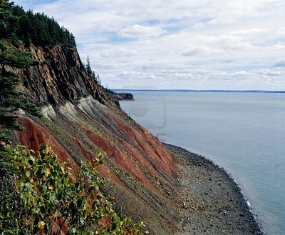 Highest tides,in the world...as high as 53 feet in the Bay of Fundy, Nova Scotia, Canada (Stock Photo)