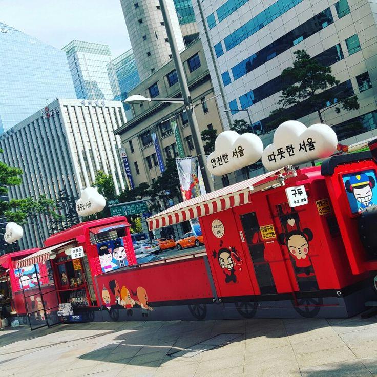 Kiosks at Seoul, Korea.