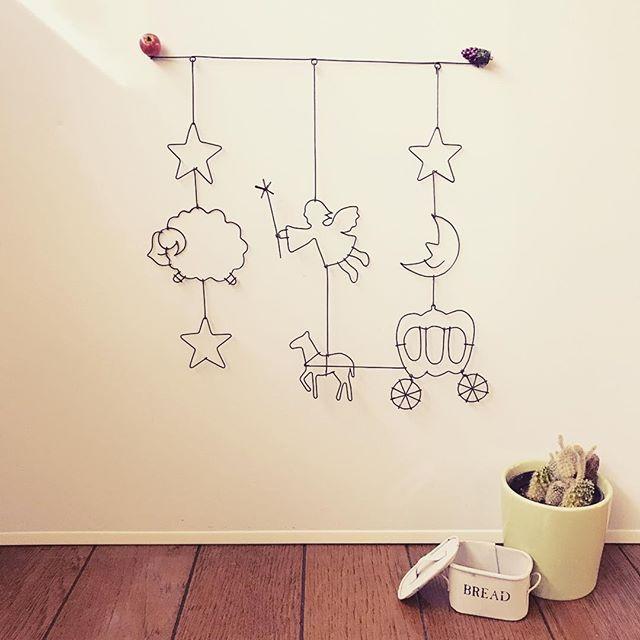 【ワイヤークラフト/ガーランド】 ①星+羊+星 ②妖精+馬車の馬 ③星+月+カボチャの馬車  #ワイヤークラフト #ガーランド #カボチャの馬車 #シンデレラ #妖精