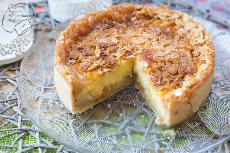 Kleine Kuchen: Florentiner Apfelkuchen   Unter der Florentinerschicht verbirgt sich eine leckere Apfel-Pudding-Schicht          Liebe Fr...