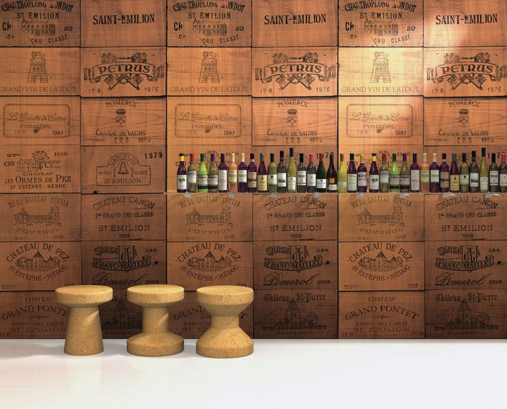 Our Wine Crates #InfusedVeneer in color from the Food and Drink Collection in cherry #BNIndustries