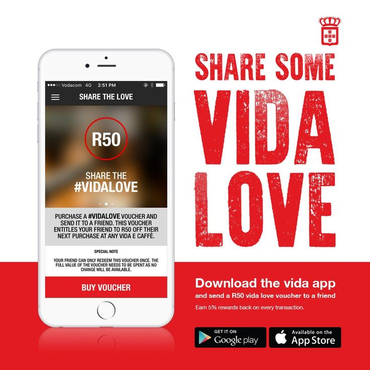 Share the #vidalove and send it to a friend.  For more details have a look at our twitter page by clicking the image.