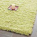 Hand-woven Bliss Lime Green Shag Rug (7'6 x 9'6) | Overstock.com