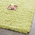 Hand-woven Bliss Lime Green Shag Rug (7'6 x 9'6) | Overstock.com