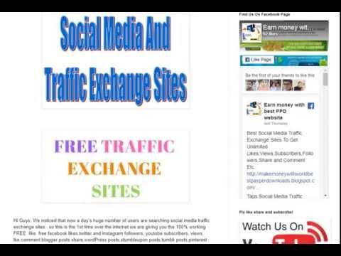 Best Social Media Traffic Exchange Sites To Get Unlimited Likes - top tr...