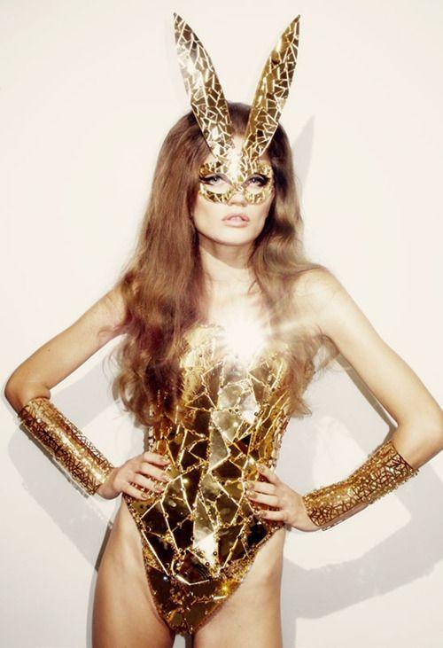glittery gold girl